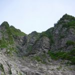谷川幽の沢V字状岩壁右ルート