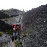 手ごろで、アプローチ15分、ルートも整備されている岩稜ルート-二子山中央陵